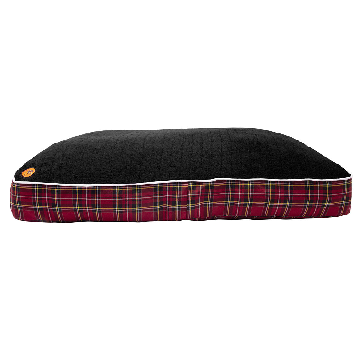 EC Red Plaid Rectangular Dog Bed - Halo - Breeches.com
