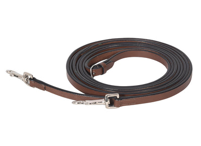 Advantage Breastplate Draw Reins - Full Leather with Breastplate Snap - Henri de Rivel - Breeches.com