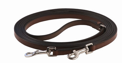 Henri de Rivel Advantage Breastplate Draw Reins - Full Leather with Breastplate Snap - Henri de Rivel - Breeches.com