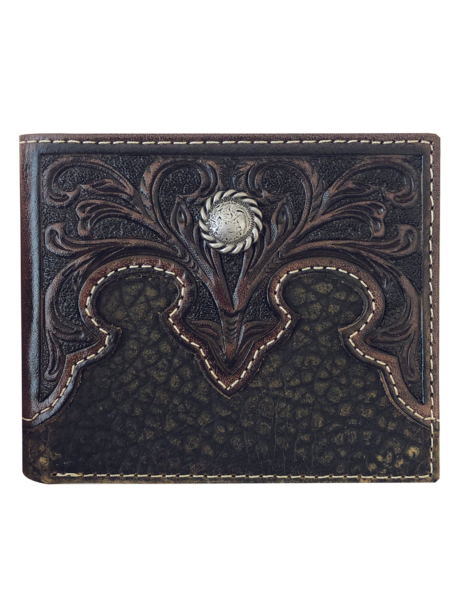 Roper Passcase Wallet With Concho_1