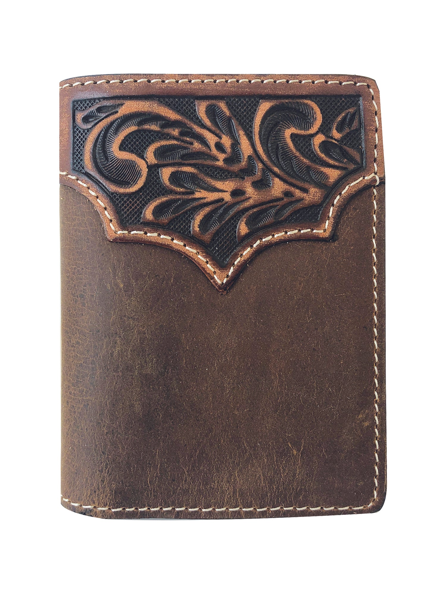 Roper Distress Crazyhorse Leather Trifold Wallet_1