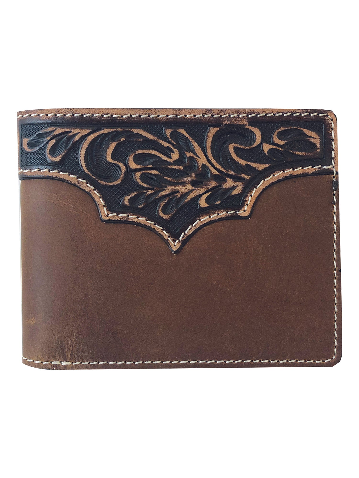 Roper Distress Crazyhorse Leather Passcase Wallet_1