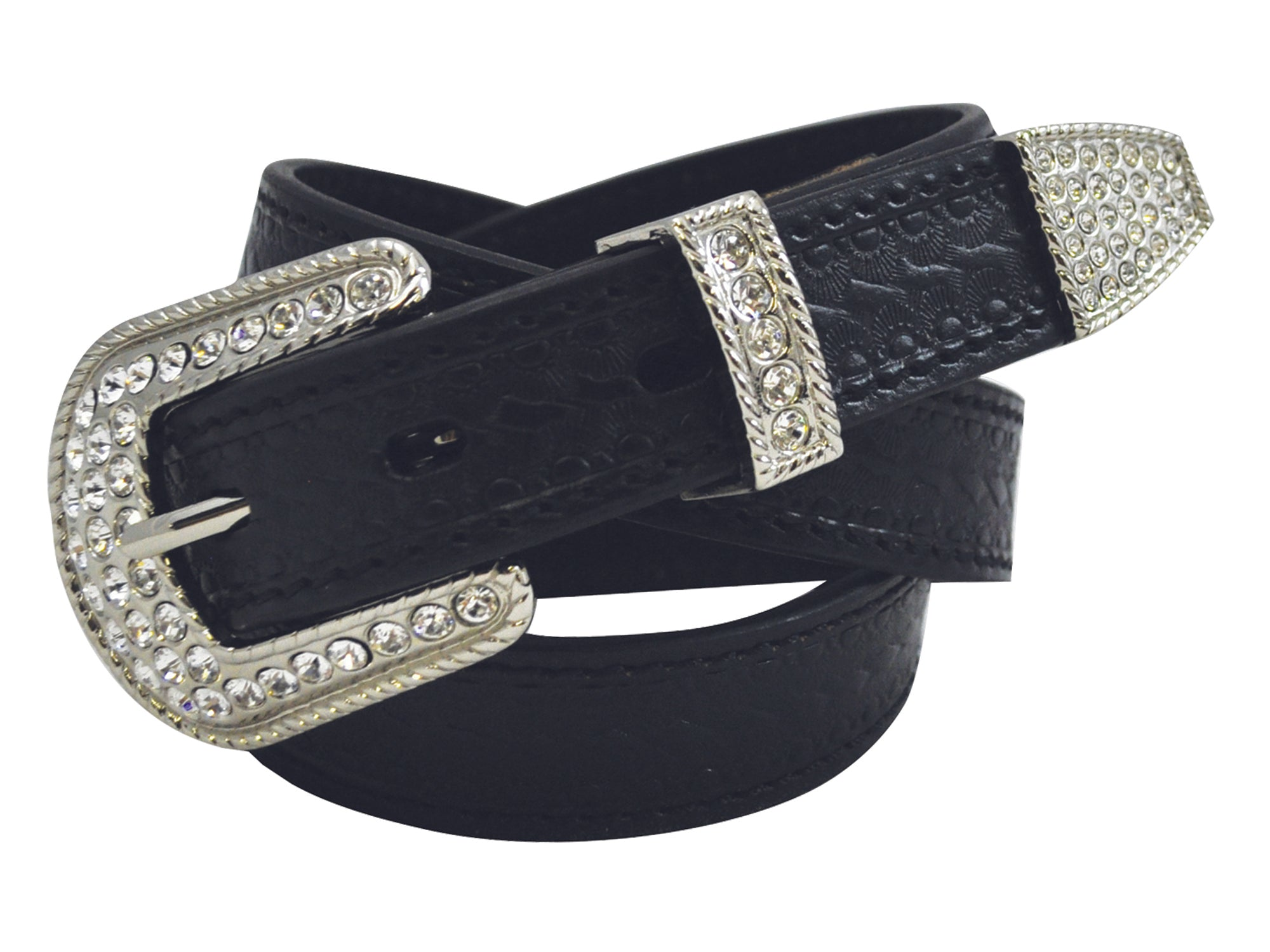 "Roper Ladies Western Rhinestone 1"" Belt_1"