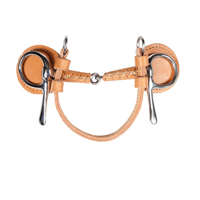 Finntack Leather Covered Snaffle Frisco June Half Cheek Driving Bit_1