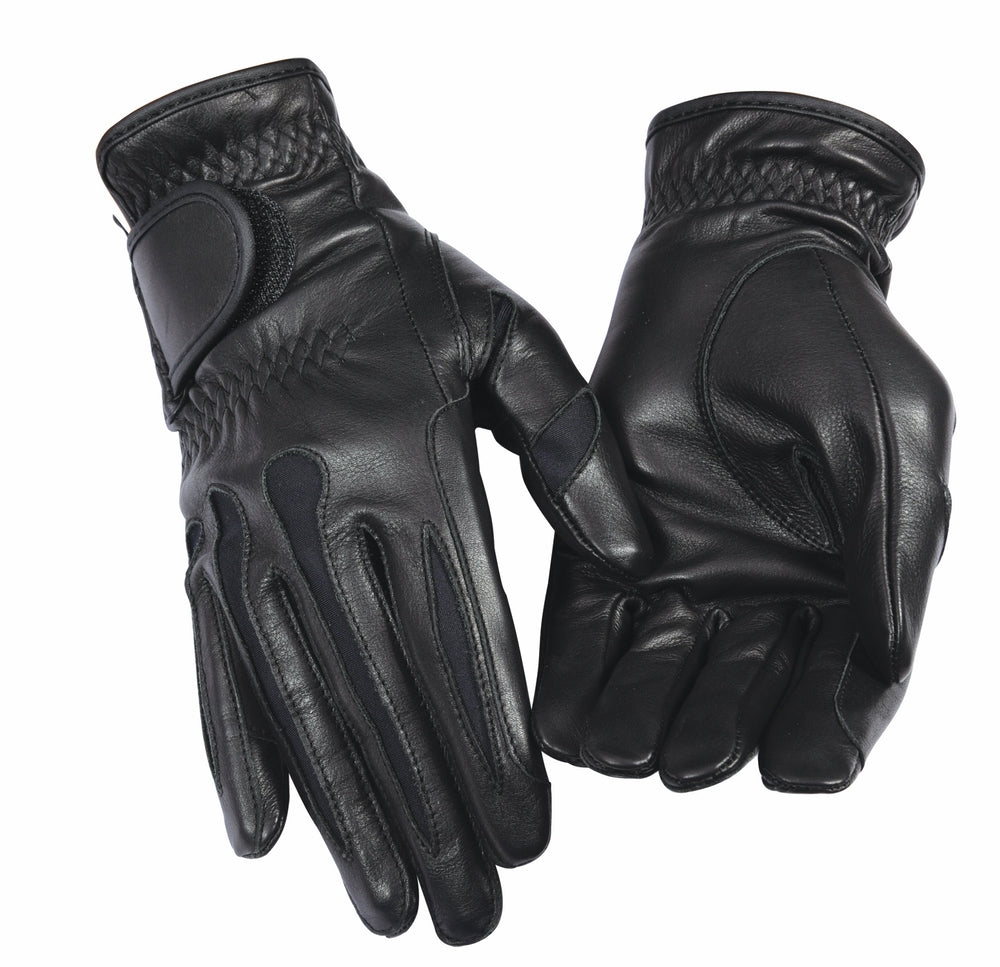 Equine Couture Ladies Stretch Leather Riding Gloves_1