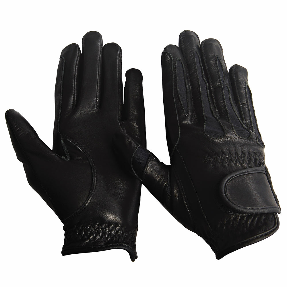 TuffRider Children's Stretch Leather Riding Gloves - TuffRider - Breeches.com