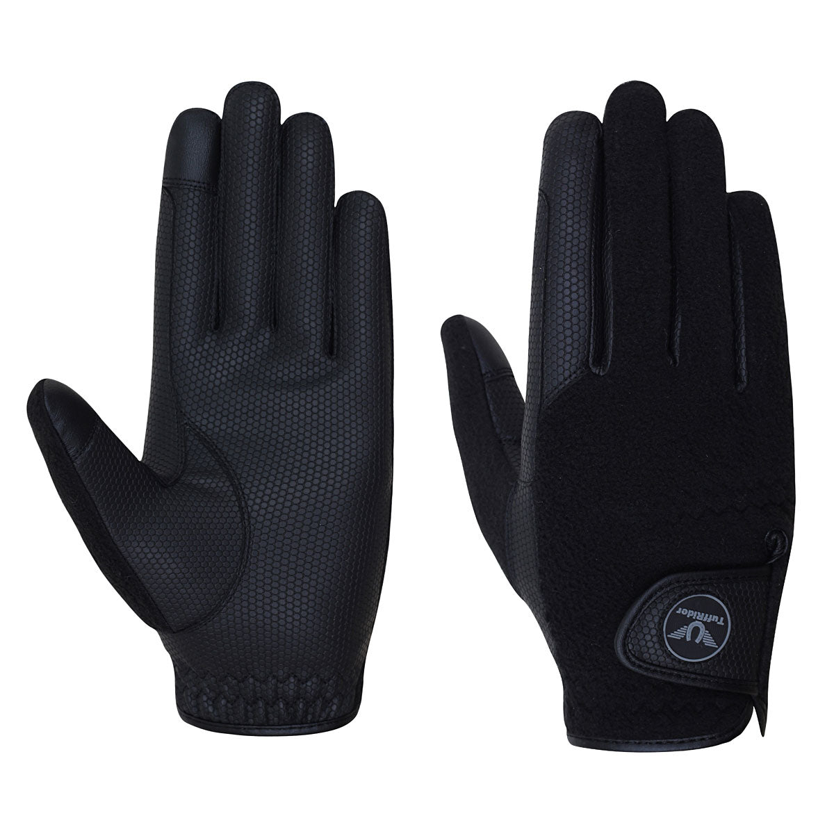 TuffRider Fleece Back Smart Riding Gloves - Breeches.com