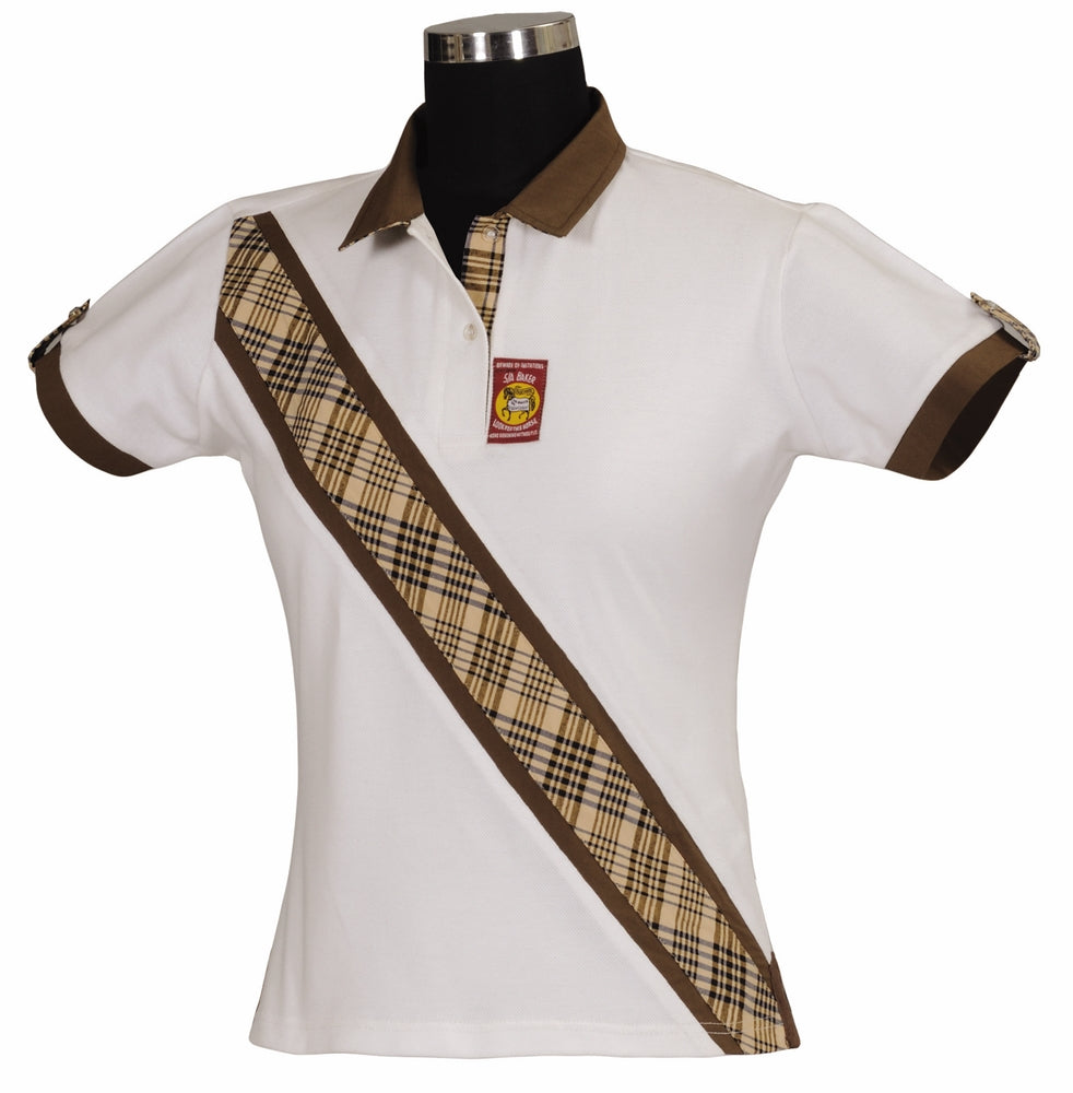 5/A Baker Ladies Classic Short Sleeve Polo - Breeches.com