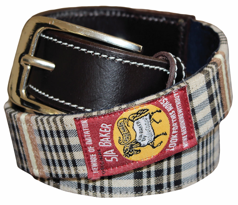 Baker Ladies Classic Plaid Belt_1