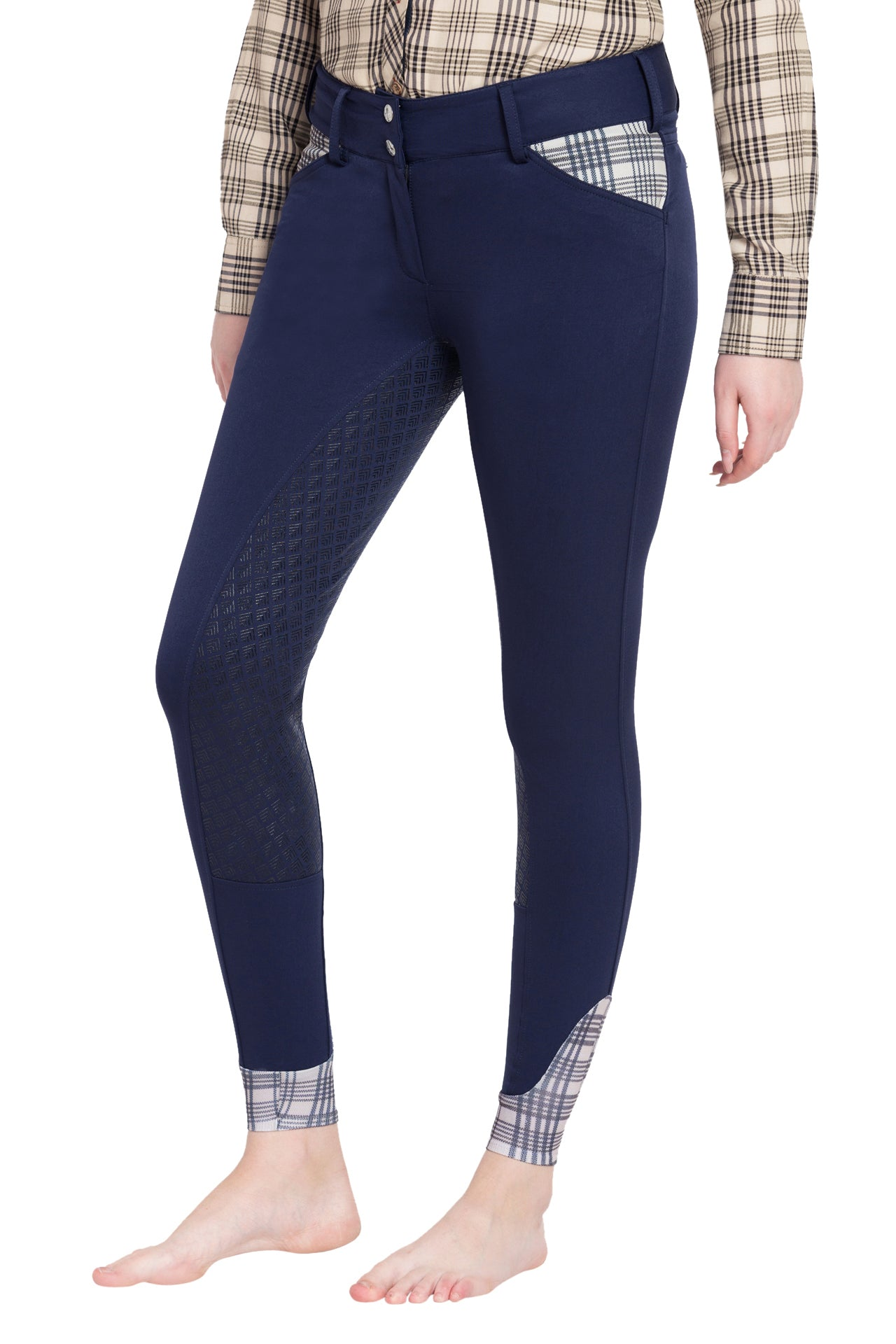 Ladies Pro Silicone Full Seat Breeches - Baker - Breeches.com