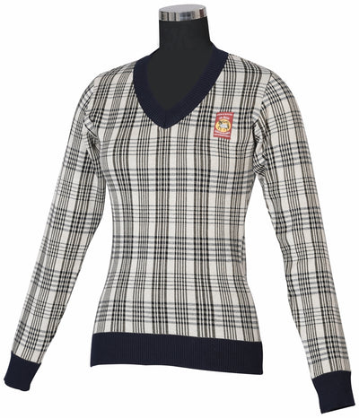5/A Baker Ladies Plaid Sweater - Breeches.com