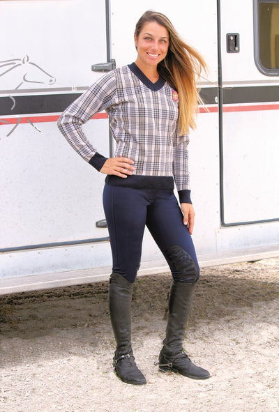 5/A Baker Ladies Plaid Sweater - 5/A Baker - Breeches.com