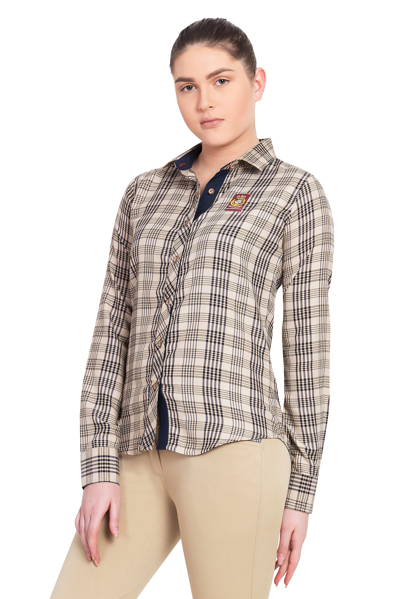5/A Baker Ladies Long Sleeve Sport Shirt - Breeches.com