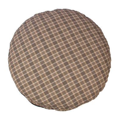 Baker Plaid Round Dog Bed - Baker - Breeches.com
