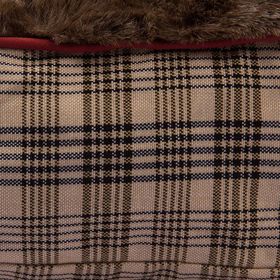 Baker Plaid Round Dog Bed_4