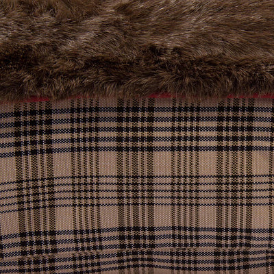Plaid Rectangular Dog Bed - Baker - Breeches.com