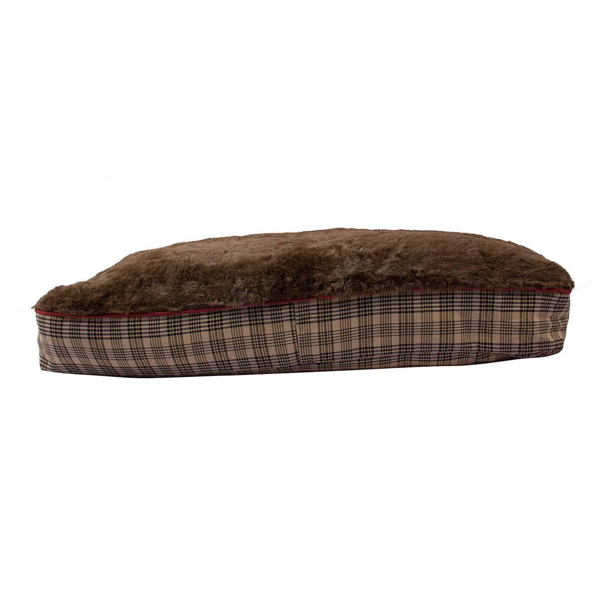 Baker Plaid Rectangular Dog Bed - Baker - Breeches.com