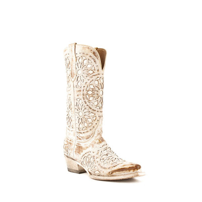 Ferrini Ladies Mandala Shabby Chic Snip Toe Boot_541