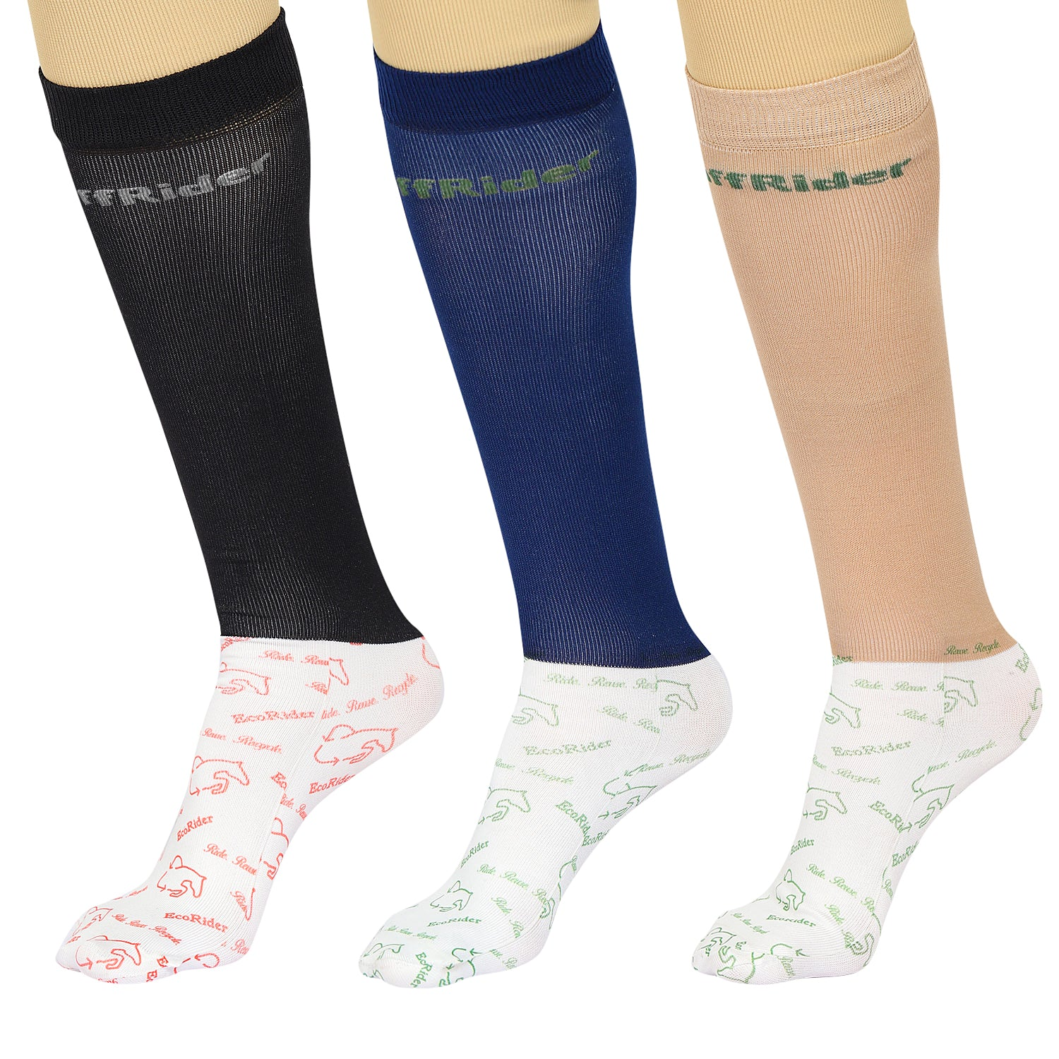 Ecorider By TuffRider Ladies 3 Pack Socks - Breeches.com