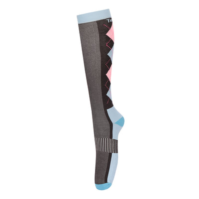 NEON VENTILATED ARGYLE SOCKS - TuffRider - Breeches.com