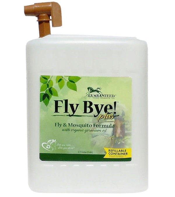 Fly Bye! Plus Fly & Mosquito Spray 2-1/2 Gallon with Refill Tap - Guaranteed - Breeches.com