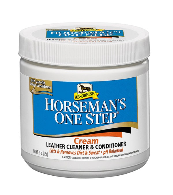 Absorbine Horseman's One Step Cream Leather Cleaner & Conditioner 15 oz. - Absorbine - Breeches.com