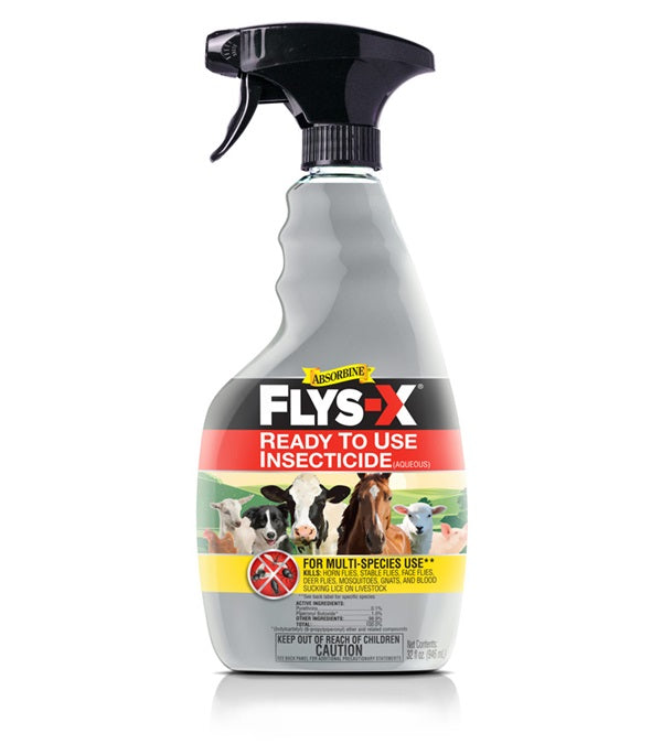 Absorbine Flys-X Insecticide Spray 32 oz. - Absorbine - Breeches.com