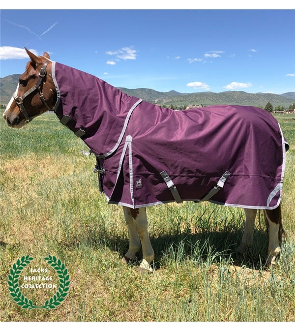 Jacks Boreas Purple Turnout Sheet 1200 Denier Reflective Stripes - Jacks - Breeches.com