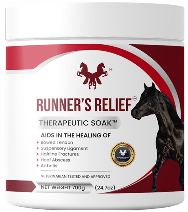 Runners Relief Therapeutic Soak Powder 700 Grams 45 Day Treatment - Breeches.com