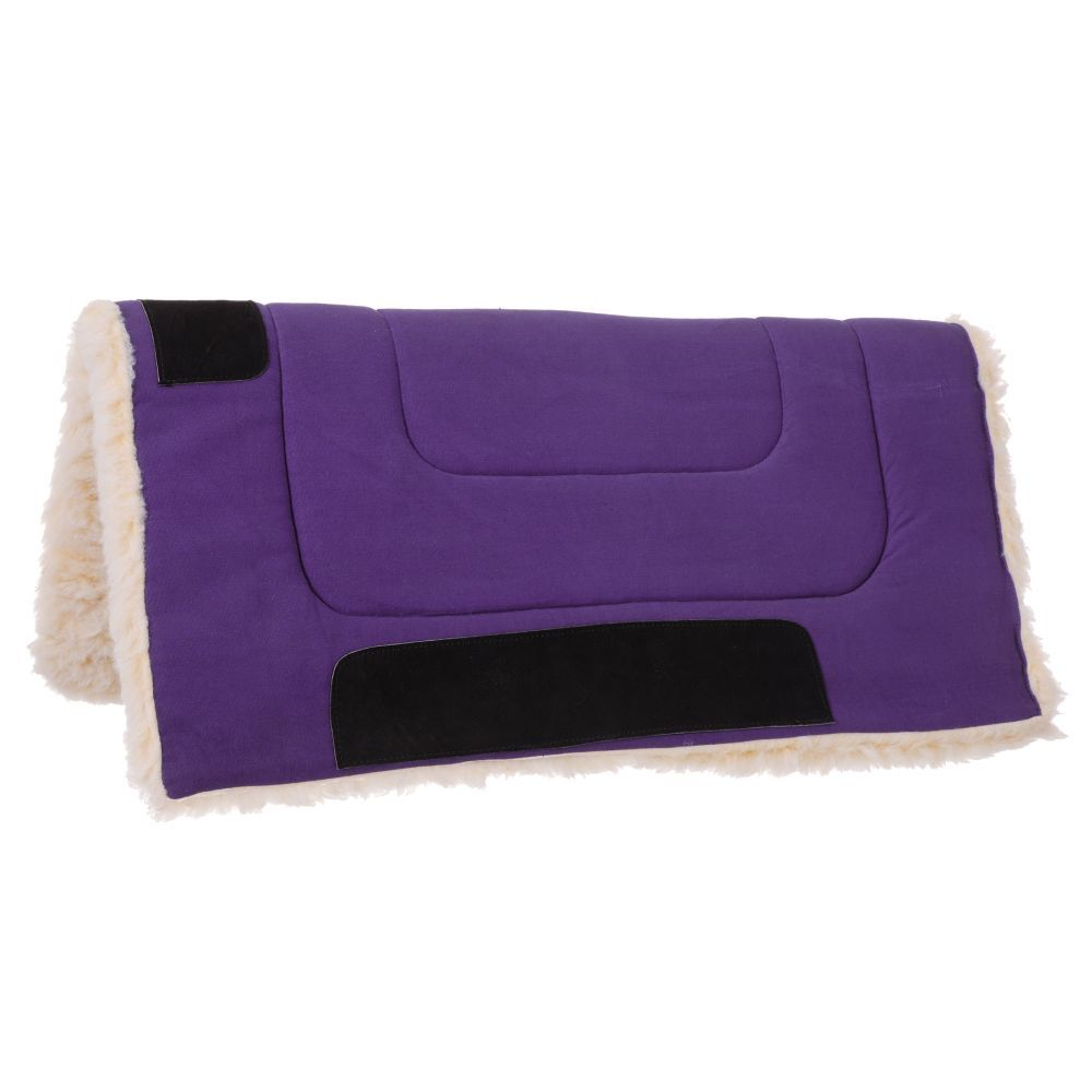 Tough-1 Fleece Bottom Canvas Saddle Pad - Tough-1 - Breeches.com