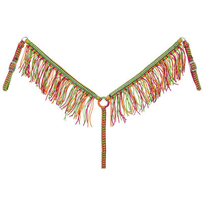 Braided Cord Breastcollar with Crystal Accents and Fringe - Breeches.com