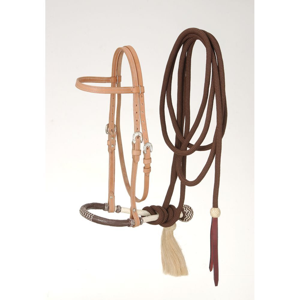 Royal King Brow band Headstall Bosal/Cotton Cord Mecate Set - Breeches.com
