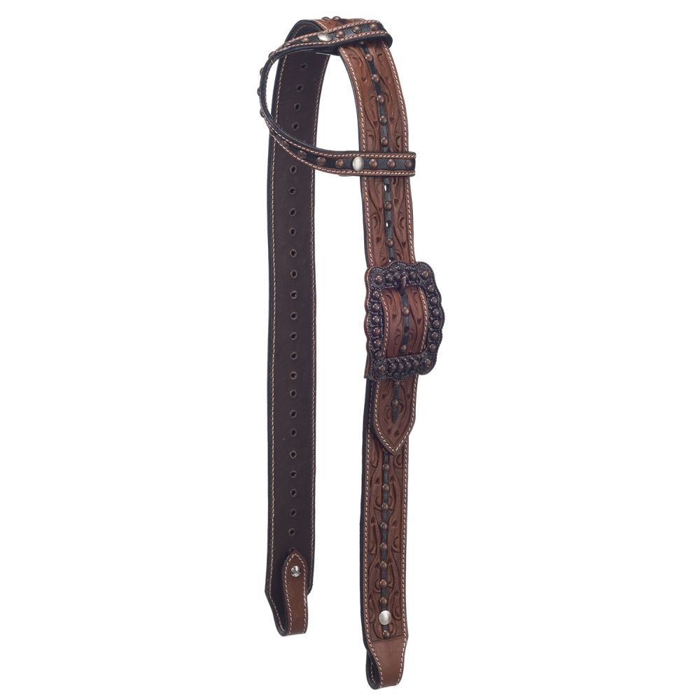 Cooper Belt Buckle Bling Single Ear Headstall - Breeches.com