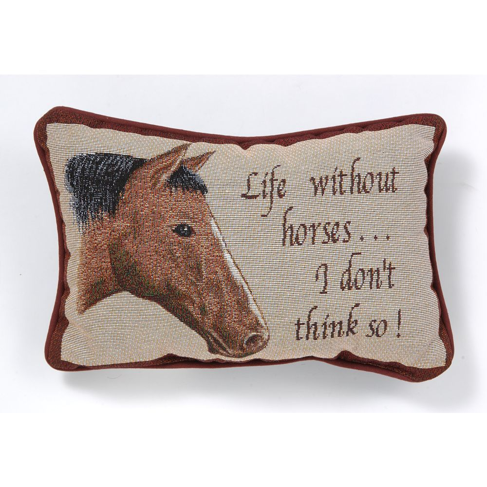 Life Without Horses Pillow - Gift Corral - Breeches.com