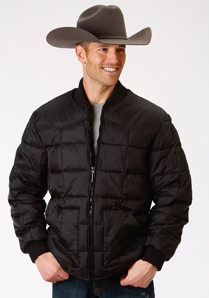 Roper Mens Black Poly-Filled Jacket - Roper - Breeches.com