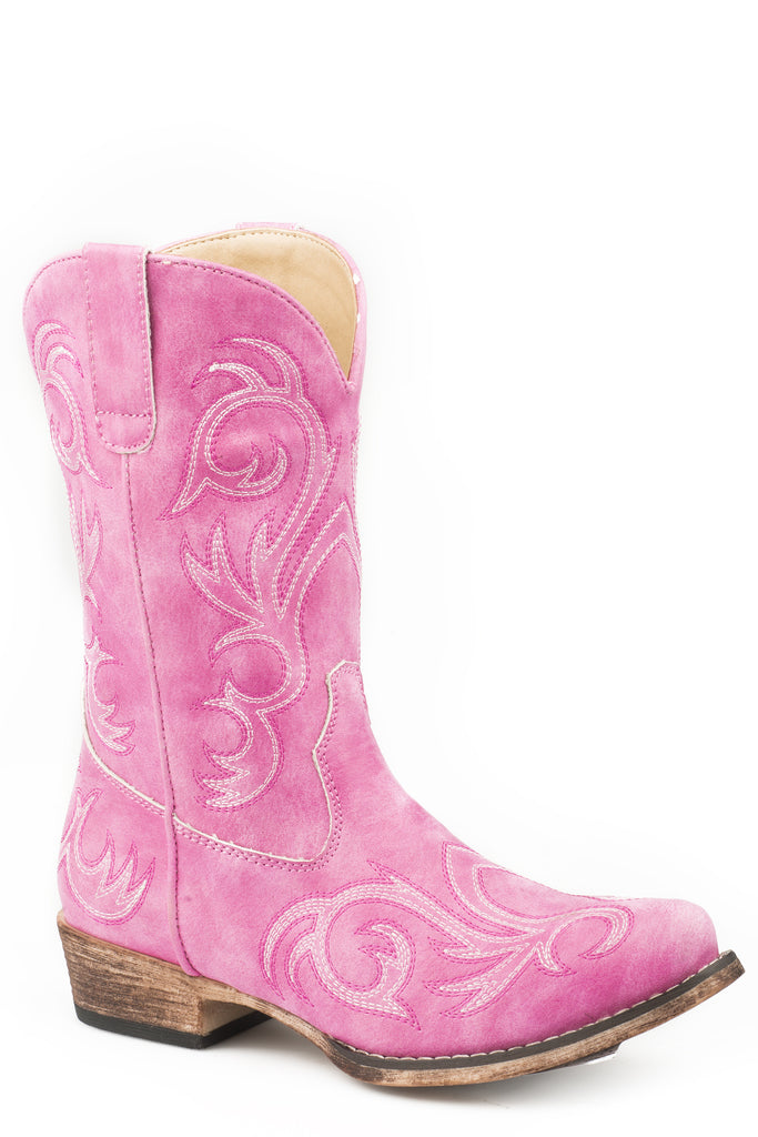 "Roper Little Kids 9"" Western With All Over Embroidery Boots - Roper - Breeches.com"