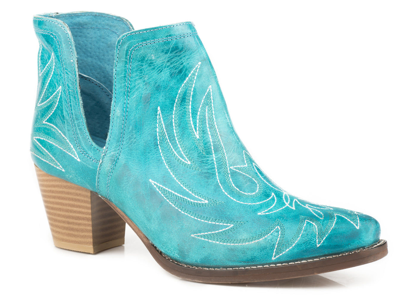 Roper Womens Turquoise Leather Ankle Boots - Roper - Breeches.com