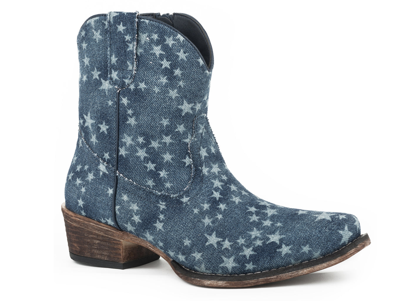 Roper Womens All Over Stone Washed Denim Boots - Roper - Breeches.com