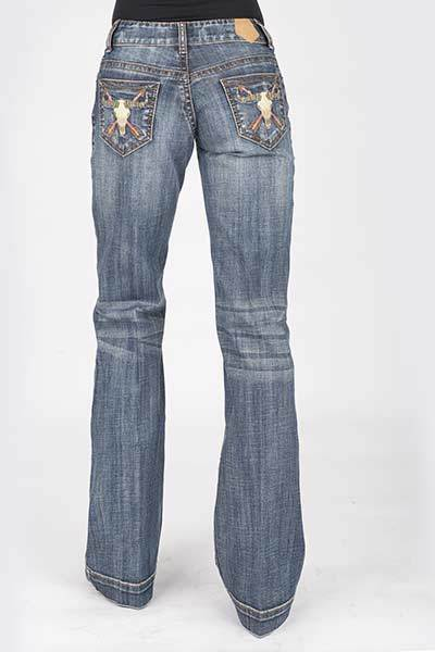 Tin Haul Women Steer Head with Arrows Ella Fit Stretch Jeans_58