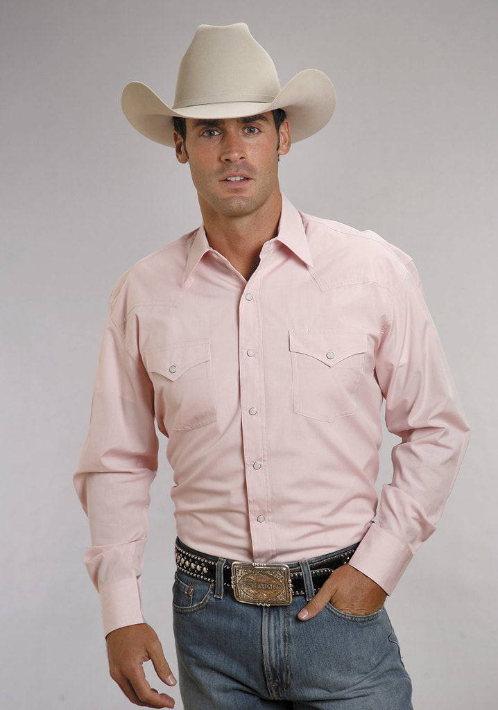 Stetson Men's End On End Solid Shirt_9