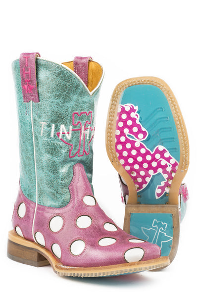 Tinhaul Little Kids Little Miss Dotty Boots_82