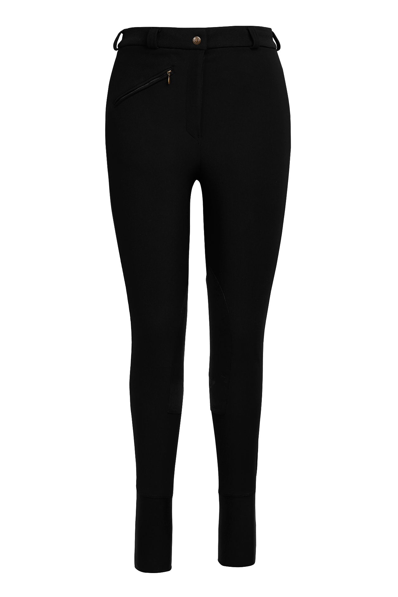 Tuffrider Ladies Long Ribb Knee Patch Breeches - Breeches.com