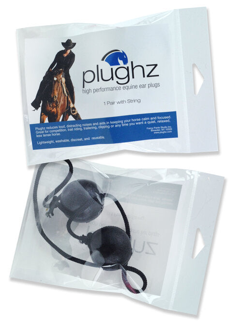 Plughz One Pair Horse Ear Plugs With Cord - Breeches.com