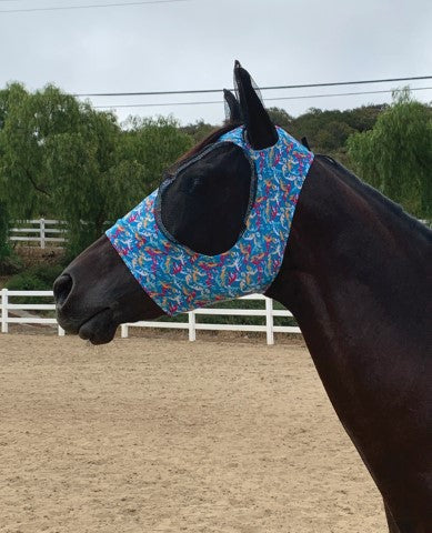 Professional's Choice Pony Comfort Fit Lycra Fly Mask_1