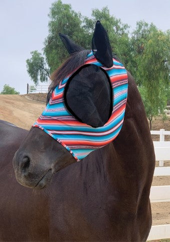 Professional's Choice Pony Comfort Fit Lycra Fly Mask_4