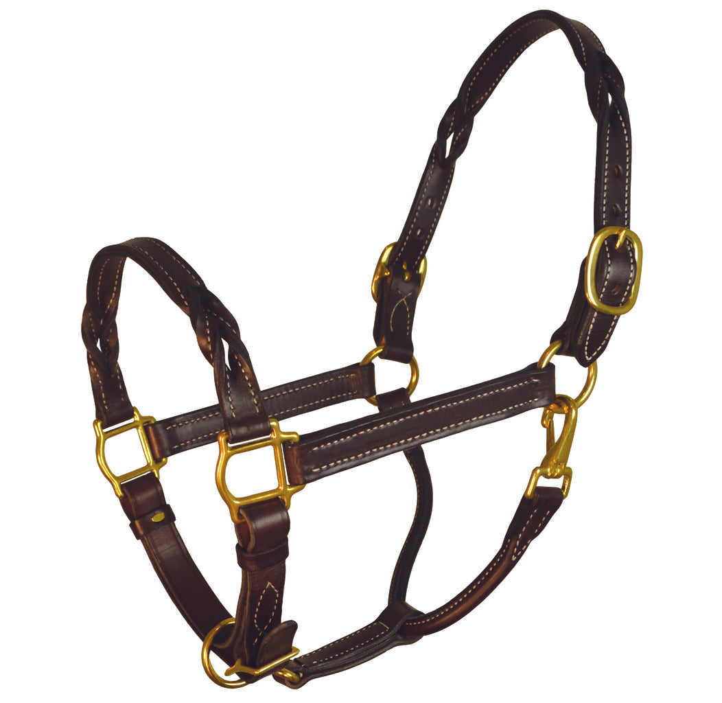 Perri's Leather Twisted Leather Halter - Perri's Leather - Breeches.com