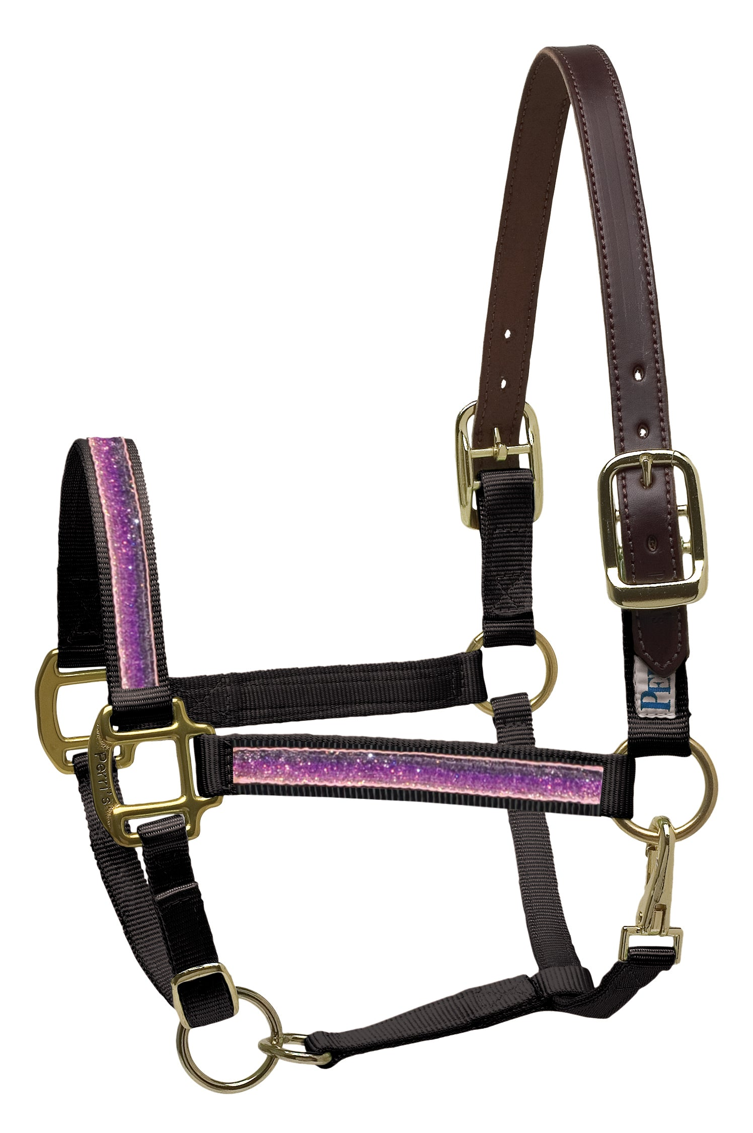 Perri's Leather Sparkle Ribbon Halter - Perri's Leather - Breeches.com