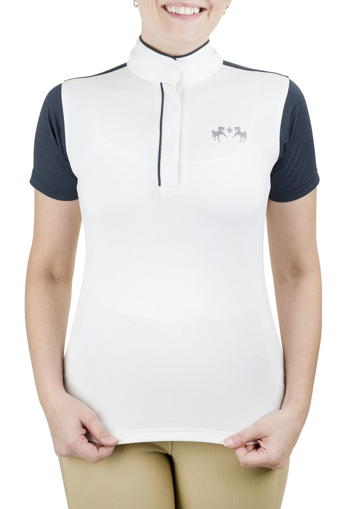 Equine Couture Ladies Magda Equicool Short Sleeve Show Shirt_1