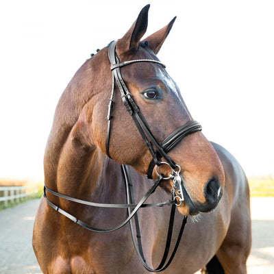Horze Laelia Leather Reins with Stops_2