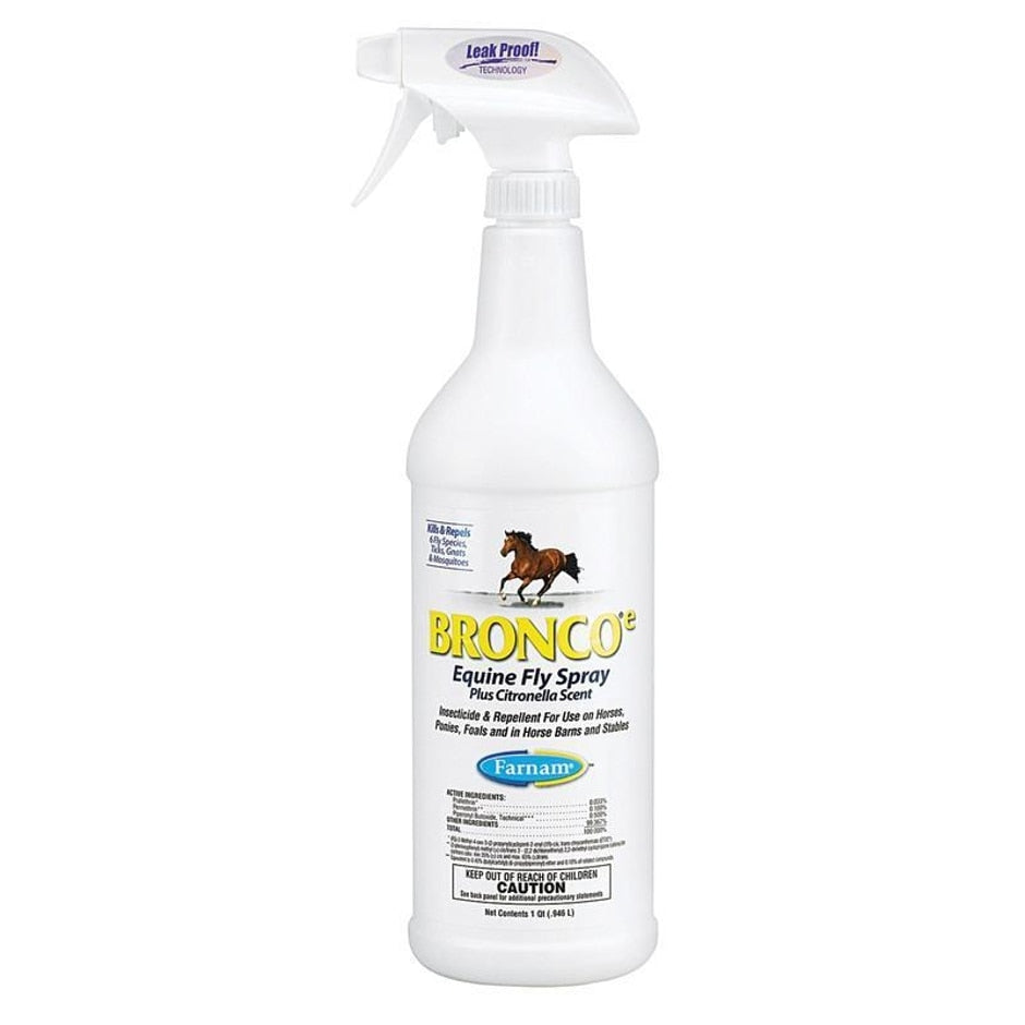 Bronco Equine Fly Spray Plus Citronella Scent - Breeches.com